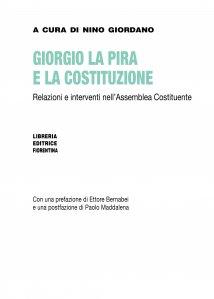 Giorgio La Pira e la Costituzione